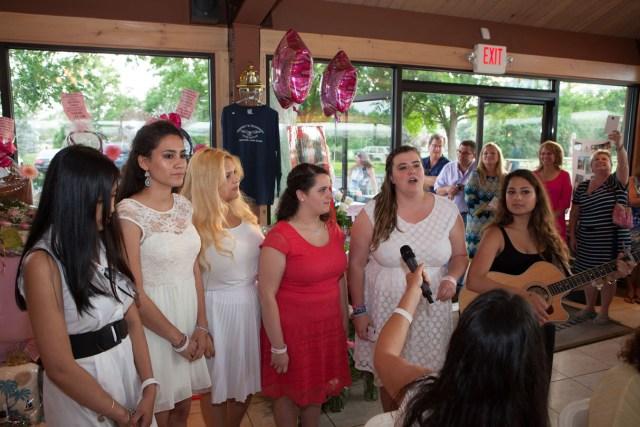 St. Joseph's College Show Choir sings Kait's favorite songs. (Credit: Katharine Schroeder)