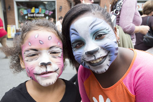 KATHARINE SCHROEDER PHOTO | Face painting at the 2013 Greenport Maritime Festival.