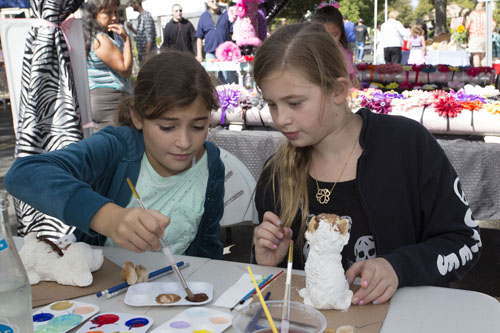 KATHARINE SCHROEDER PHOTO | Local kids had a chance to enjoy some maritime crafts at the festival this weekend.