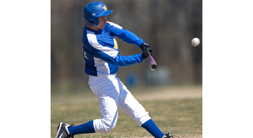 GARRET MEADE PHOTO | Austin Pase brought in Mattituck's first two runs with a double down the right-field line in the third inning.