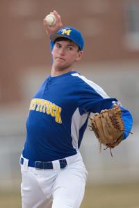 GARRET MEADE PHOTO | Mattituck's starting pitcher, Cameron Burt, did not allow a hit through the first four innings.