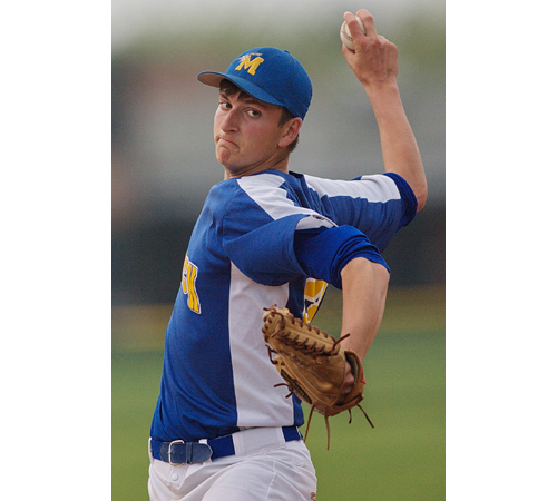 GARRET MEADE FILE PHOTO | Mattituck pitcher Cameron Burt fired 70 strikeouts in over 59 innings last year for the Tuckers. He signed a letter of intent to play for Queens College.