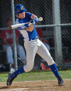 GARRET MEADE PHOTO | Ian Nish connected for one of Mattituck's three hits against Center Moriches.