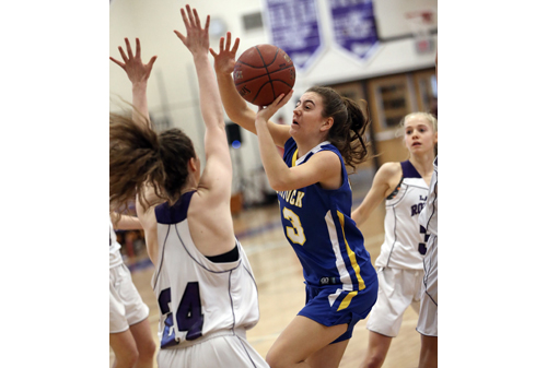 Mattituck basketball player Liz Dwyer 020217
