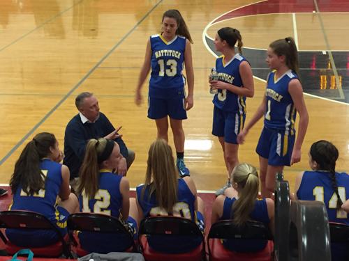 Mattituck girls basketball coach Steve Van Dood 011017