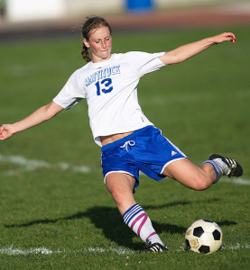 GARRET MEADE FILE PHOTO | Mattituck sweeper Nicole Zurawski is believed to have NCAA Division I ability.