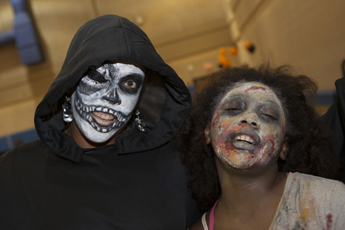Dozens of kids in costume celebrated Halloween last year at the Mattituck Lions Club. (Credit: Katharine Schroeder, file)