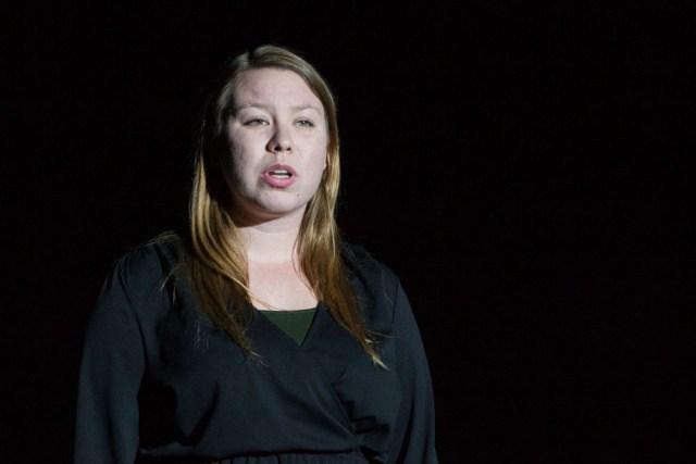 """Christina Stankewicz sings """"Burn."""""""