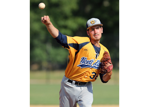 Danny Pobereyko, a converted reliever, hasn't allowed an earned run in his first 20 innings with the North Fork Ospreys. (Credit: Daniel De Mato)