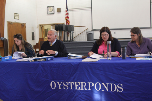 Tonight's Oysterponds school board meeting is at 7:30 p.m.