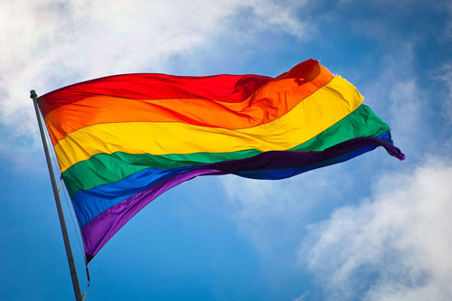 Rainbow flag gay marriage