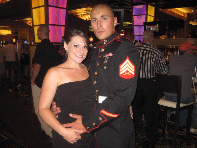 Staff Sgt. Rob Surozenski and his wife, Sara LeDonne. (Credit: Courtesy)