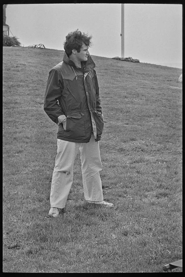 Photographer Jim Lennon said of this photo: 'We only had a few minutes between takes with Robin. Jeff strolled with him and chatted a bit. When I asked if it was OK to take his photo, he said 'how's this?' as he turned his head, hands in pocket, striking a pose while looking off to Fishers Island Sound. In a moment the crew was calling for him on set and off he went.  It was a very brief. but memorable moment with Robin Williams that I have always treasured.' (Credit: Jim Lennon)