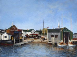 'Hanff's Boatyard' by Cindy Pease Roe.
