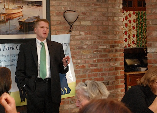 Supervisor Scott Russell addressed the North Fork Chamber of Commerce during its meeting Friday. (Cyndi Murray photo)