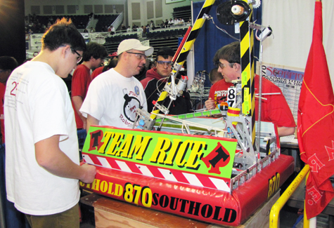 Southold High School students competed in the annual FIRST Robotics Competition at Hofstra University Saturday.