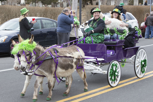 Jamesport hosted its first-ever St. Patrick's Day parade Saturday. (Credit: Katharine Schroeder photo)