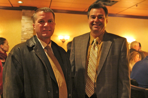 From left, Southold Town Supervisor Scott Russell and Suffolk County Legislator Al Krupski.
