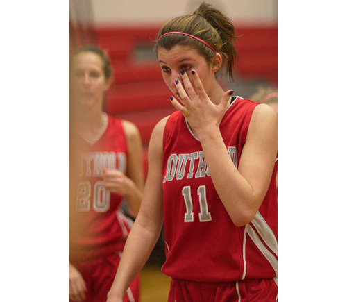 GARRET MEADE PHOTO | Nicole Busso, the League VIII most valuable player, after Southold's loss to The Stony Brook School in the Suffolk County Class C final.