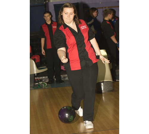 GARRET MEADE PHOTO | Emily Pressler had a 447 series for Southold against Riverhead at Wildwood Lanes on Tuesday.