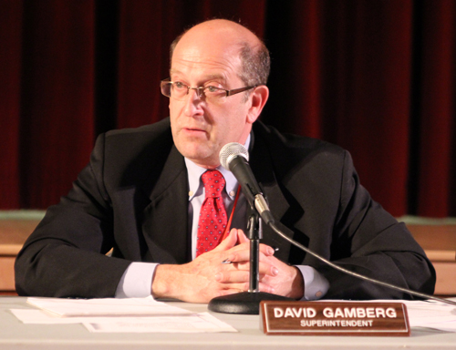 JENNIFER GUSTAVSON PHOTO | The Southold school board adopted Superintendent David Gamberg's $28 million proposed budget Wednesday night.