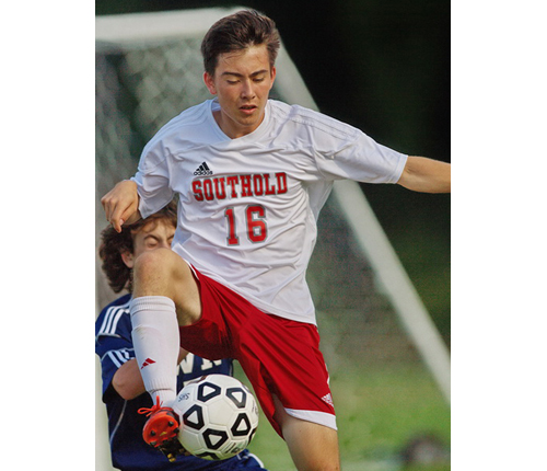 GARRET MEADE PHOTO   Kenji Fujita, a former goalkeeper turned field player, scored the only goal in Southold's win over Shoreham-Wading River.