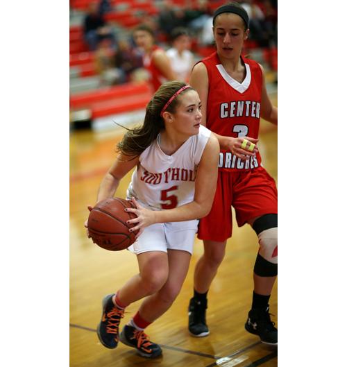 Southold:Greenport basketball player Ale Cardi 121915