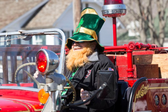The Cutchogue St. Patrick's Day Parade in 2014. (Credit: Katharine Schroeder, file)