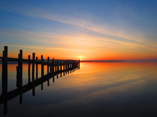WENDY ZUHOSKI PHOTO | Suffolk Times reader Wendy Zuhoski submitted five shots of a sunrise she captured last week in New Suffolk.