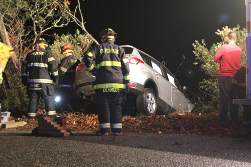 The accident scene Monday night. (Credit: Jen Nuzzo)