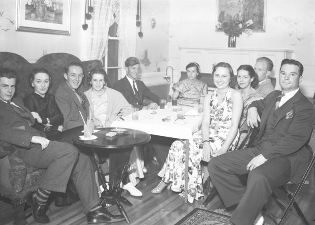 In this photo, Mr. Richter's father, Ernest, can be seen at far left.