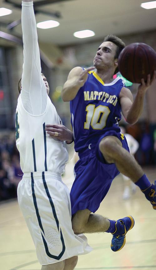 Mattituck senior guard Joe Tardif made the all-league second team last season. (Credit: Garret Meade, file)
