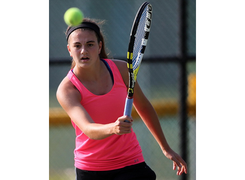 At 13 years of age, Liz Dwyer became the youngest player to ever win the women's singles title in the Bob Wall Memorial Tennis Tournament. (Credit: Garret Meade)