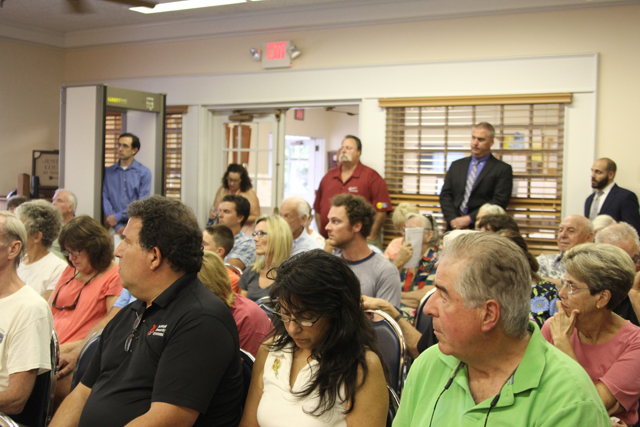 Standing room only Monday night for The Heritage at Cutchogue's hearing. (Credit: Jen Nuzzo)