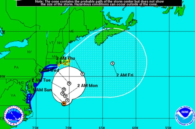 Tropical Storm Hermine Sunday morning