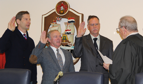 CARRIE MILLER FILE PHOTO |Newly elected Trustees took the oath of office in January.