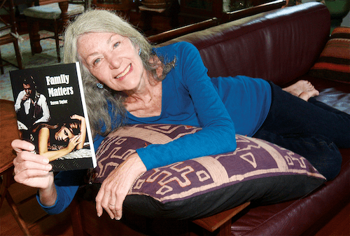 First-time author Teresa Taylor at home in Greenport. (Credit: Barbarellen Koch)