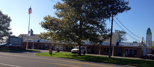 RACHEL YOUNG PHOTO   Retired Peconic businesswoman Sophie Cartselos has purchased the Village of Southold shopping center for $1.6 mil.