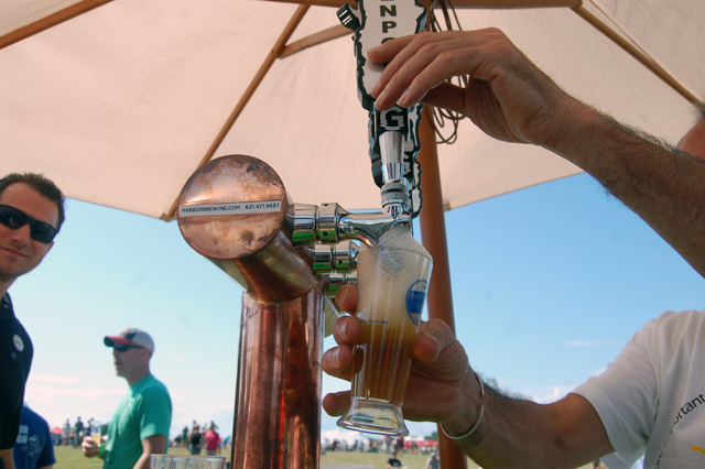 Beer being poured at last week's festival. (Credit: Vera Chinese)