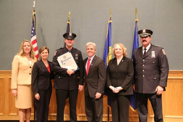 Rory Flatley (third from left) has been named a top DWI cop again. (Credit: courtesy)