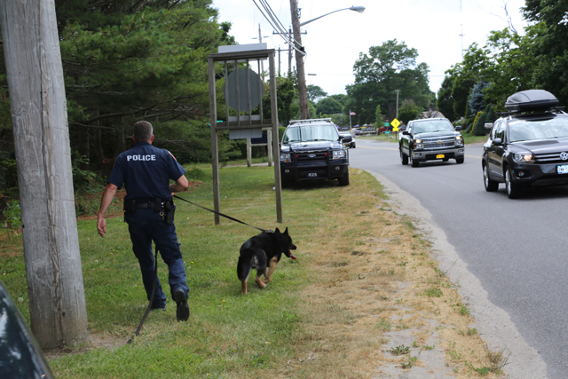 The Southold Town Police K-9 unit. (Credit: Nicole Smith)