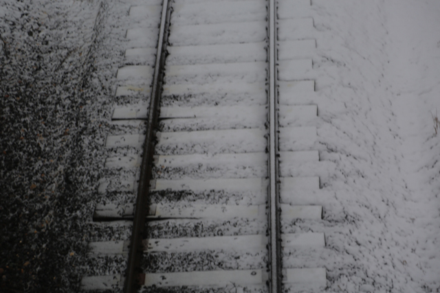 Railroad tracks in Southold around 8 a.m.