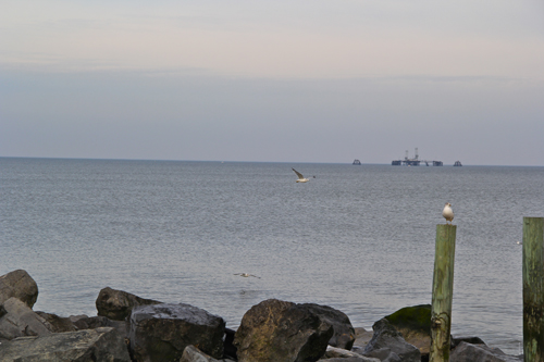 View off of Iron Pier Beach. (Carrie Miller Photo)
