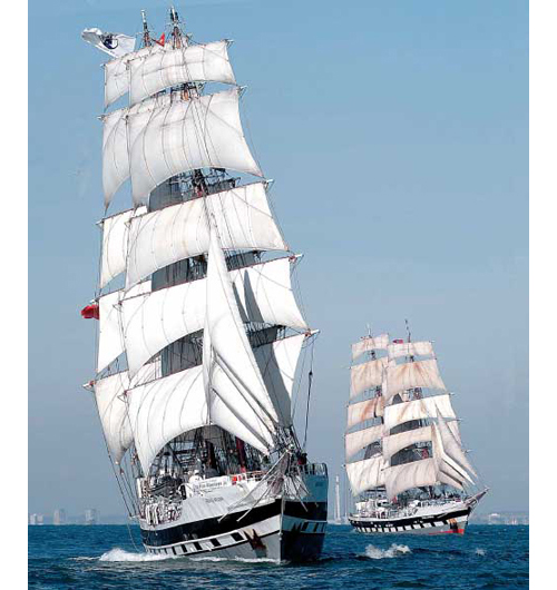 Tall ships like these could be heading up the East Coast to Greenport in 2015. (Credit: Courtesy Tall Ships America)