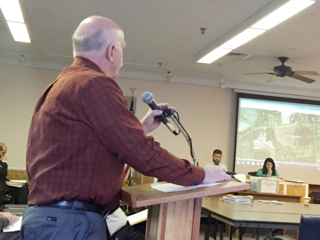 Mattituck resident Warren Jackson voiced his concern to the town Planning Board Monday.  (Credit: Cyndi Murray)