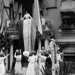 Alice Paul unfurls banner