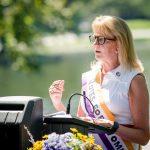 Sen. Joan Lovely speaking at Women's Equality Day 2021