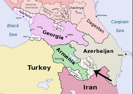 Image result for map of armenia and surrounding countries