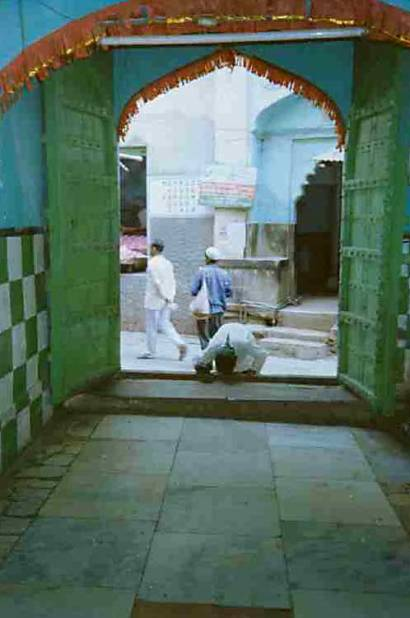 A gate to the dargah of Khwaja Mo'inuddin Chishti, Ajmer