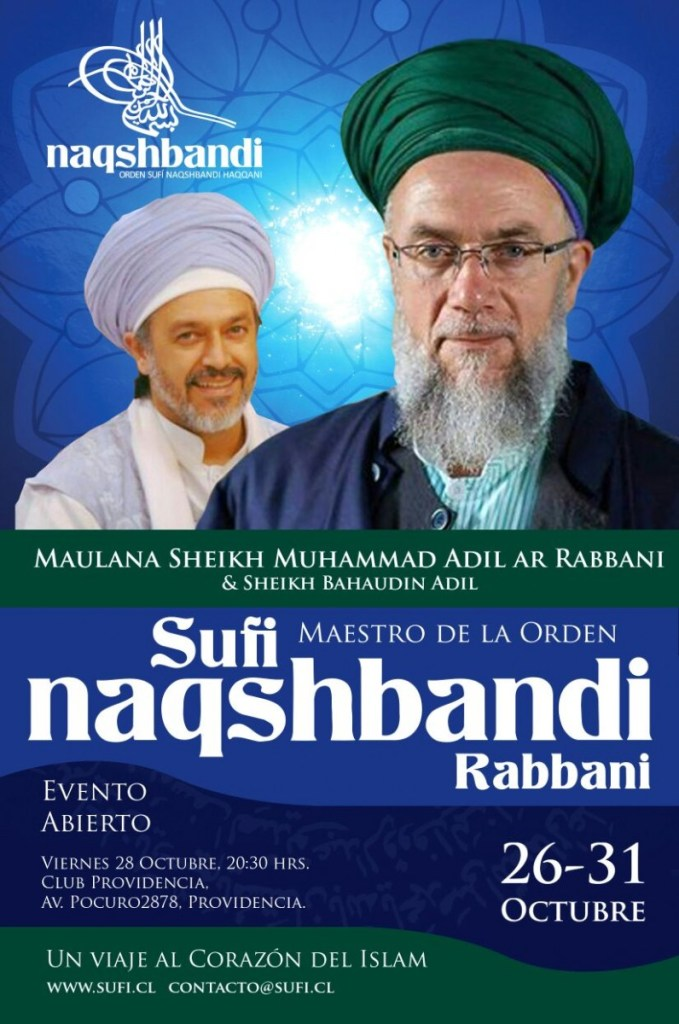 Maestro Sufi en Chile - 28 oct club providencia.